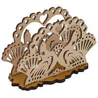 Деревянная салфетница 06. Птицы, фото 1