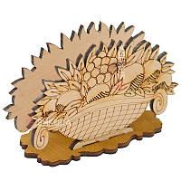 Дерев'яна підставка для серветок 12. Кошик фруктів, фото 1