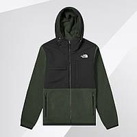 Ветровка куртка мужская теплая флисовая демисезонная осенняя весенняя качественная зеленая The North Face