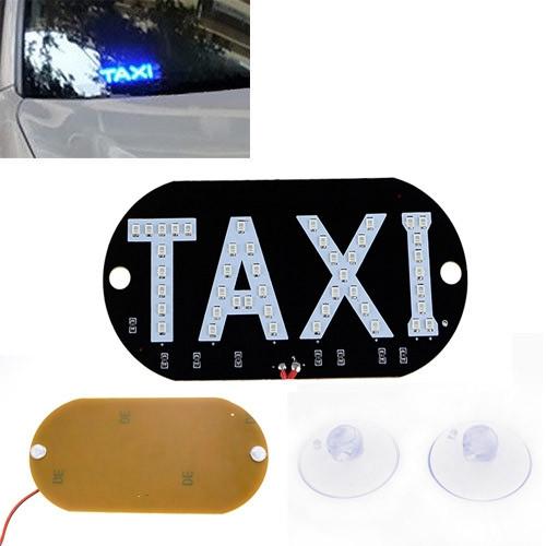 Автомобільне LED табло табличка Таксі TAXI 12В, синє