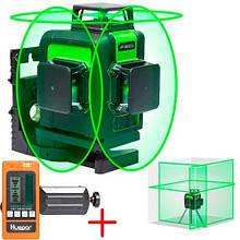 Лазерний рівень нівелір 12 ліній, 360град Huepar 903CG + приймач