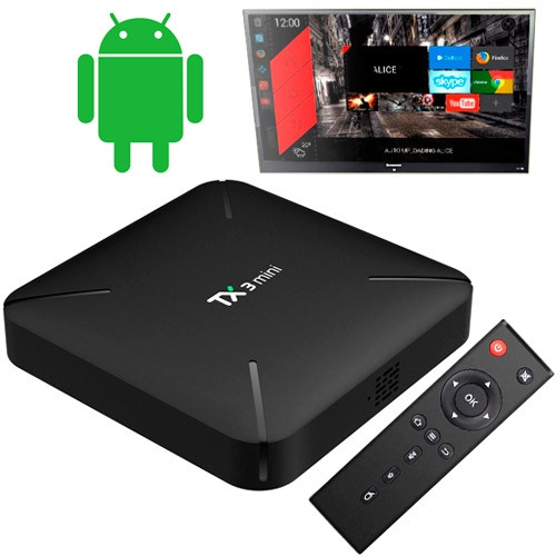 Медіаплеєр Android Smart TV Box Amlogic S905W 2/16ГБ Tanix TX3 Mini H