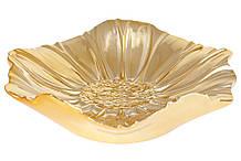 Декоративное керамическое блюдо Цветок, 21.5см, цвет - золото BonaDi 972-101