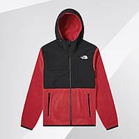 Ветровка куртка мужская теплая флисовая демисезонная осенняя весенняя качественная красная The North Face