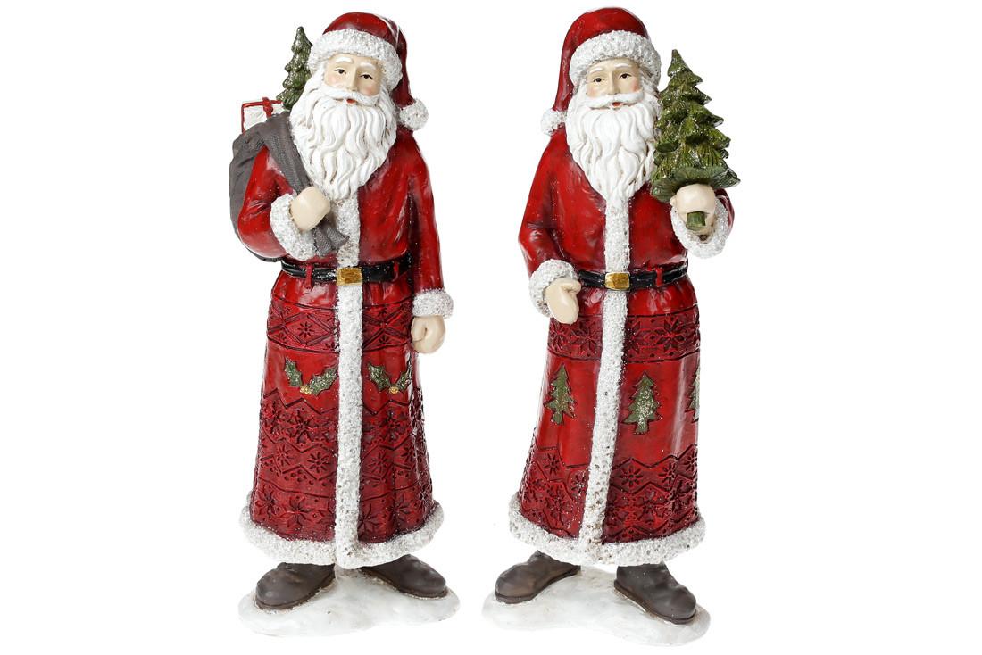 Декоративная статуэтка Санта, 2 вида, 30см, цвет - красный BonaDi 218-713