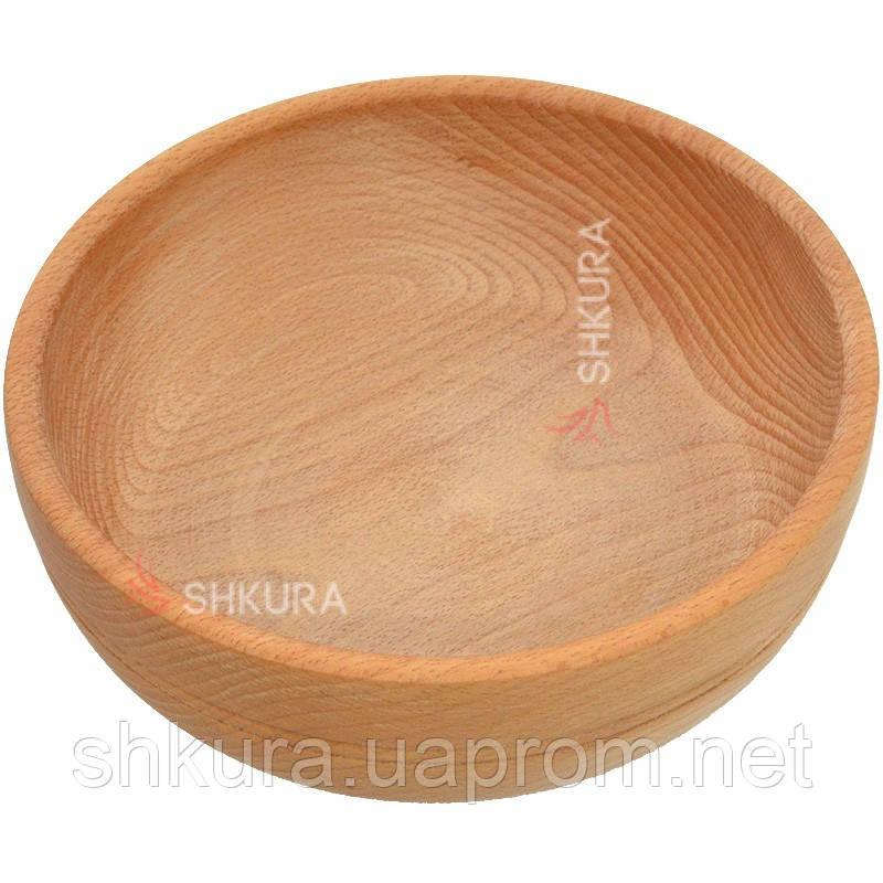 Деревянная тарелка 01. Глубокая