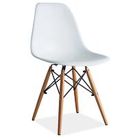 Белый кухонный стул Signal Enzo на буковых ножках с жестким сиденьем в скандинавском стиле