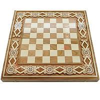 Шахматная доска. 44х44 см. Бисер, фото 1