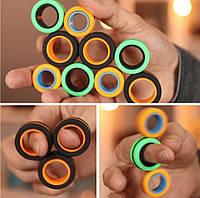 Спиннер магнитный антисресс магнитные кольца спинер игрушка 3 в 1 Fin Gears Magnetic Rings