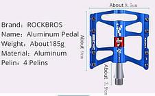 Педали ROCKBROS JT410 на 4 ! промах 370г. 4.10 алюминий вело CR-Mo, фото 3