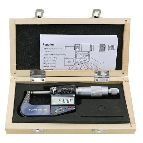 Мікрометр цифровий 0-25мм, 0.001 мм точність, DSWQ0-100II у футлярі