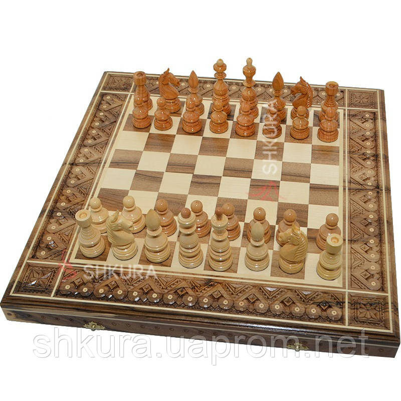Шахматы 3 в 1. 50х50 см