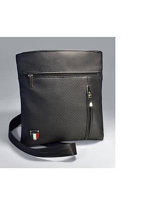 Мужская сумка черная барсетка на плечо, фото 2