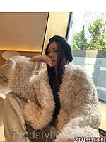 Женская модная шуба из турецкого меха овчины 3 цвета, фото 1