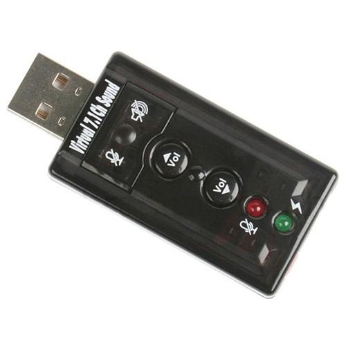USB Звукова карта 7.1 3D звук регулятор гучності