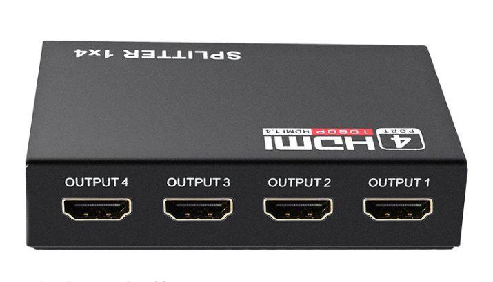 HDMI сплиттер активный 1080 2K 3D 4 порта 1 вход->на 4 экрана Splitter