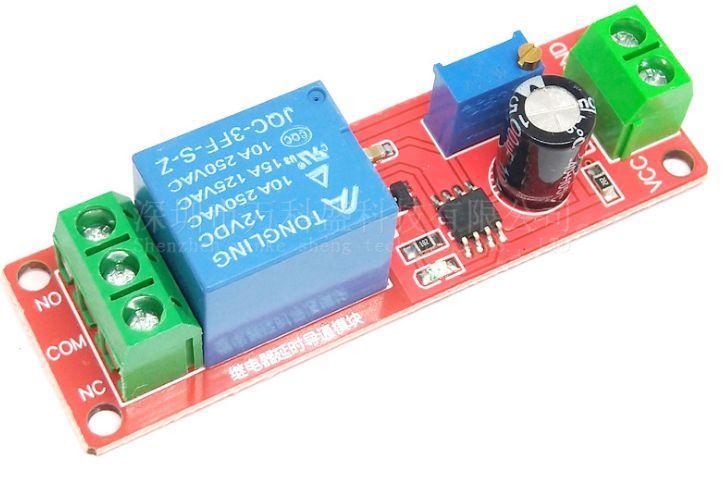 NE555 Реле задержки на включение и отключение от 0 до 10 секунд 12V