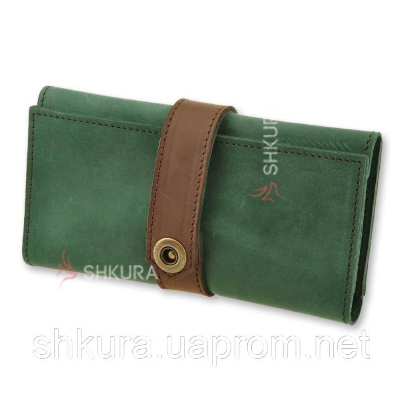 Жіночий гаманець 3.0 Смарагд-горіх