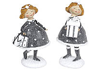 Декоративная подвесная фигурка Детка с подарками, 15.5см, 2 вида, цвет - графит BonaDi 823-198