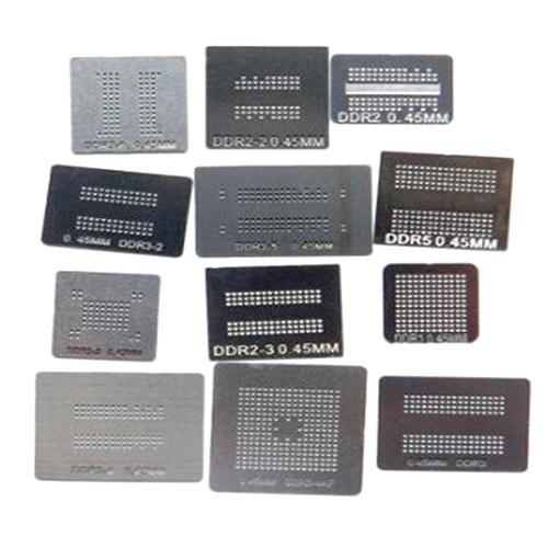 Набір з 12 BGA трафаретів для пам'яті DDR, DDR2, DDR3