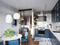 Кухня в однокомнатную квартиру