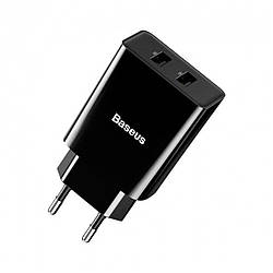 Сетевое з/у Baseus Speed Mini Dual U Charger 10.5W Black (CCFS-R01)