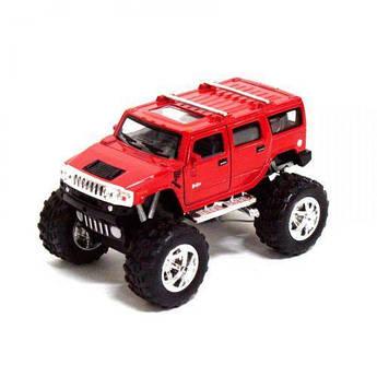 """Внедорожник KINSMART """"Hummer H2"""" (красный) KT5337WB"""