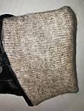 Кожа натуральная с шерсти сетка Angel  мужские перчатки только оптом, фото 4