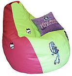 Бескаркасное кресло мешок пуф для девочки, фото 5