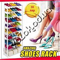 Органайзер стойка полка для обуви на 30 пар Amazing shoe rack, фото 1