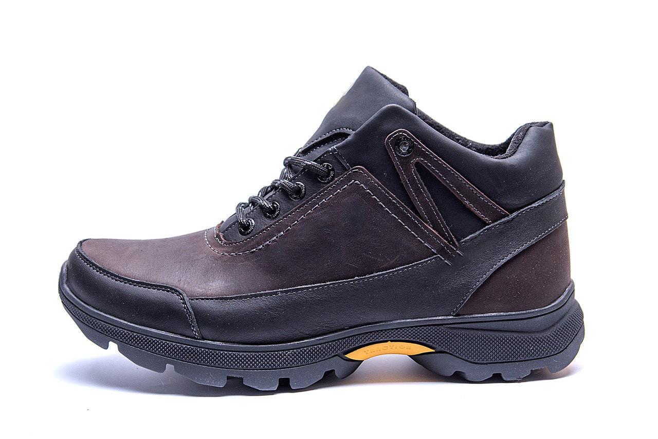 Мужские зимние кожаные ботинки Е-series Active Drive Brown .