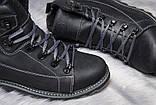 Мужские зимние кожаные ботинки CAT Expensive Black Night ., фото 8
