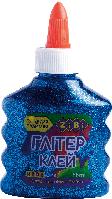 Клей (для слаймов) ГЛИТТЕР синий на PVA-основе, прозрачный, 88 мл, KIDS Line