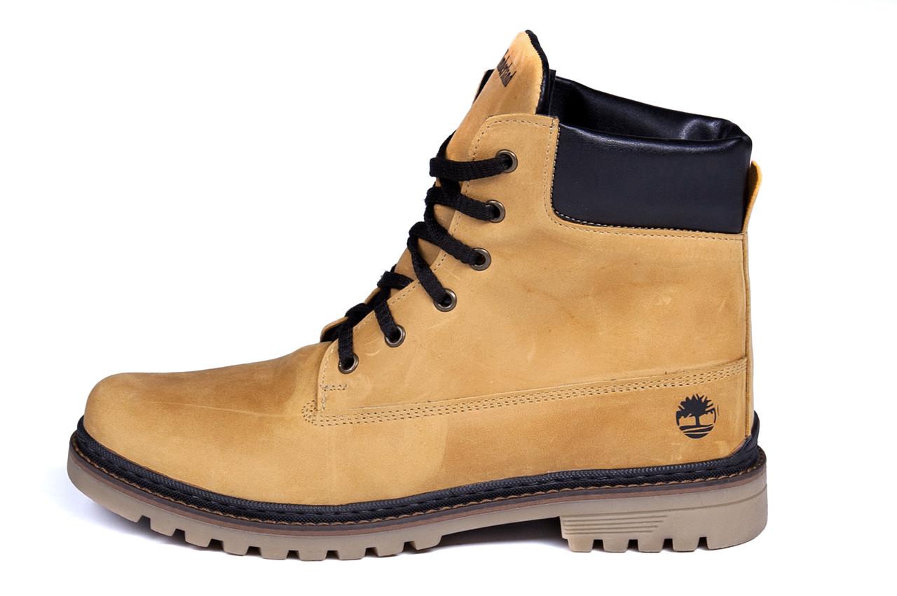 Мужские зимние кожаные ботинки Timderland Crazy Shoes Limone .