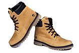 Мужские зимние кожаные ботинки Timderland Crazy Shoes Limone ., фото 3