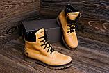 Мужские зимние кожаные ботинки Timderland Crazy Shoes Limone ., фото 7