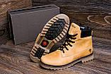 Мужские зимние кожаные ботинки Timderland Crazy Shoes Limone ., фото 8