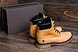 Мужские зимние кожаные ботинки Timderland Crazy Shoes Limone ., фото 9