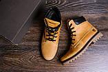 Мужские зимние кожаные ботинки Timderland Crazy Shoes Limone ., фото 10