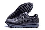 Мужские зимние кожаные кроссовки  Reebok Classic Black ., фото 5