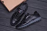 Мужские зимние кожаные кроссовки  Reebok Classic Black ., фото 10