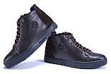 Мужские зимние кожаные ботинки ZG GO GO Man Brown, фото 4