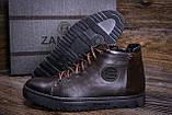 Мужские зимние кожаные ботинки ZG GO GO Man Brown, фото 7