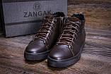 Мужские зимние кожаные ботинки ZG GO GO Man Brown, фото 8