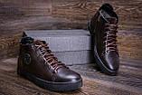 Мужские зимние кожаные ботинки ZG GO GO Man Brown, фото 9