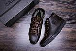 Мужские зимние кожаные ботинки ZG GO GO Man Brown, фото 10