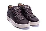 Мужские зимние кожаные ботинки ZG Chocolate Exclusive, фото 5