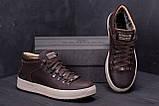 Мужские зимние кожаные ботинки ZG Chocolate Exclusive, фото 7
