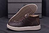 Мужские зимние кожаные ботинки ZG Chocolate Exclusive, фото 8