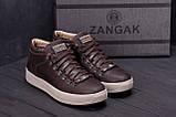 Мужские зимние кожаные ботинки ZG Chocolate Exclusive, фото 9
